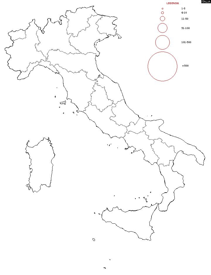 Diffusione del cognome  - Mappa dei Cognomi
